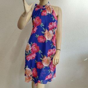 INC women's floral blue dress